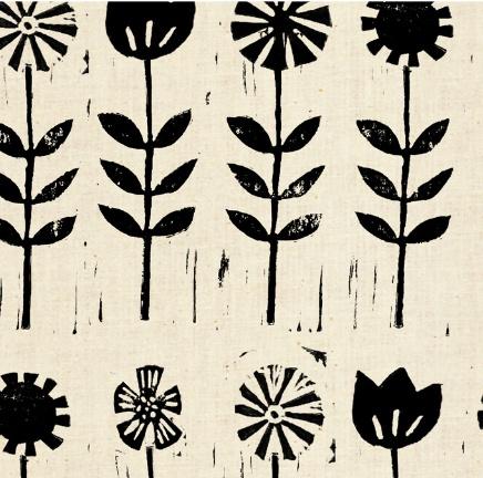 Cotton + Steel Sienna by Alexia Abegg: Wildflower Ink