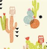 Cotton + Steel Sienna by Alexia Abegg: Desert Bloom Poppy Lawn