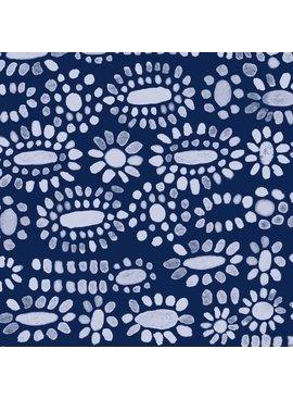 Cotton + Steel PREORDER Sienna by Alexia Abegg: Moonstone Indigo Rayon