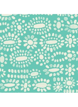 Cotton + Steel PREORDER Sienna by Alexia Abegg: Moonstone Turquoise Rayon