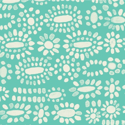 Cotton + Steel Sienna by Alexia Abegg: Moonstone Turquoise Rayon