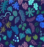 Cotton + Steel Lagoon by Rashida Coleman-Hale: Leafy Wonder Navy