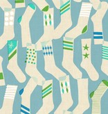 Cotton + Steel Kicks by Melody Miller: Socks Blue