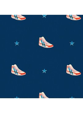 Cotton + Steel Kicks by Melody Miller: Little Kicks Navy