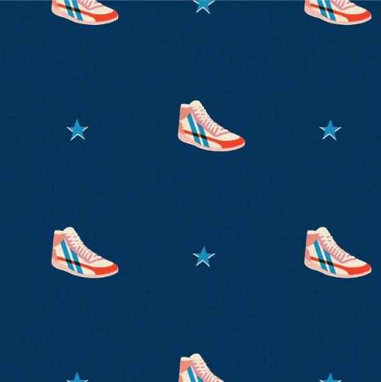 Cotton + Steel Kicks by Melody Miller: Little Kicks Navy