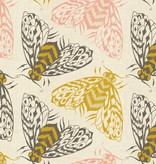 Cotton + Steel Magic Forest by Sarah Watts: Bees Yellow