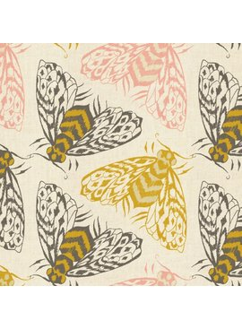 Cotton + Steel PREORDER Magic Forest by Sarah Watts: Bees Yellow