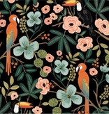 Cotton + Steel Menagerie by Rifle Paper Co: Paradise Garden Midnight