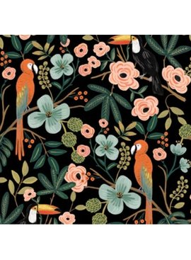 Cotton + Steel PREORDER Menagerie by Rifle Paper Co: Paradise Garden Midnight