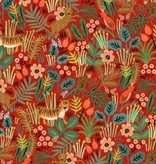 Cotton + Steel PREORDER Menagerie by Rifle Paper Co: Jungle Red
