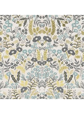 Cotton + Steel PREORDER Menagerie by Rifle Paper Co: Tapestry Natural Metallic