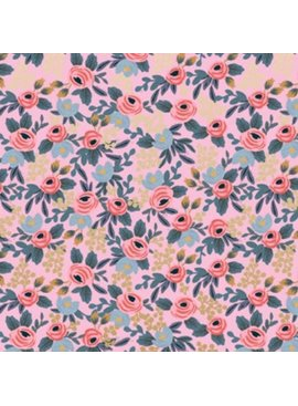 Cotton + Steel Menagerie by Rifle Paper Co: Rosa Violet Metallic