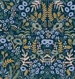 Cotton + Steel PREORDER Menagerie by Rifle Paper Co: Tapestry Navy Rayon