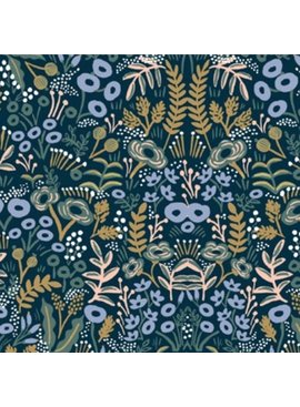 Cotton + Steel Menagerie by Rifle Paper Co: Tapestry Navy Rayon