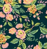 Cotton + Steel Menagerie by Rifle Paper Co: Jardin De Paris Navy Rayon