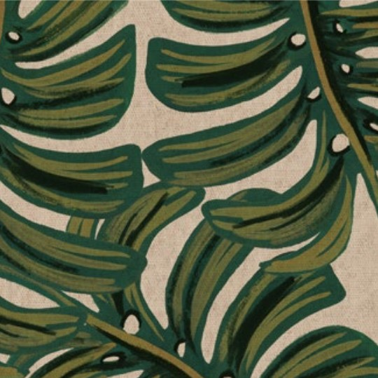 Cotton + Steel Menagerie by Rifle Paper Co: Monstera Natural Canvas