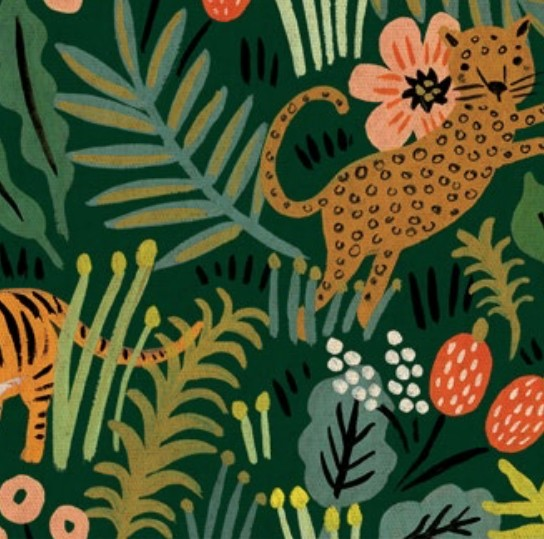 Cotton + Steel Menagerie by Rifle Paper Co: Jungle Hunter Canvas