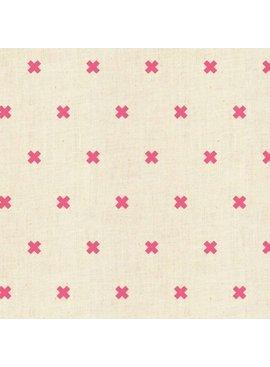Cotton + Steel PREORDER New Basics by Cotton + Steel: XOXO Flamingo Neon
