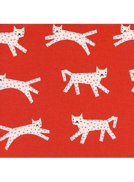 Cotton + Steel Noel by Cotton + Steel: Snow Leopard Red