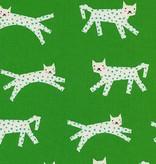 Cotton + Steel Noel by Cotton + Steel: Snow Leopard Green