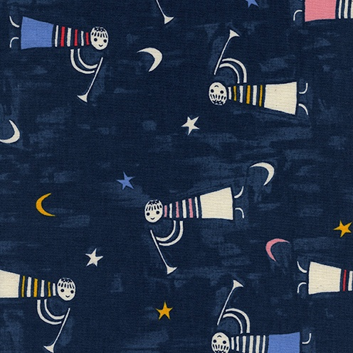 Cotton + Steel Noel by Cotton + Steel: Angels Singing Navy