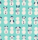 Cotton + Steel Noel by Cotton + Steel: Snow Babies Mint