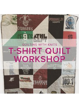 Michelle Freedman T-shirt Quilt Workshop, Saturday-Sunday, July 16-17, 10 am - 1pm and Saturday, July 22, 10 am - 1pm