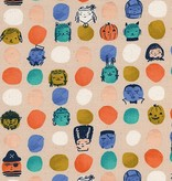 Cotton + Steel SALE—Lil' Monsters by Cotton + Steel: Dress Up Peach. Original price $13/yd