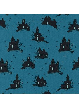 Cotton + Steel Lil' Monsters by Cotton + Steel: Trick or Treat Teal