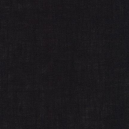 Robert Kaufman Limerick Linen Black