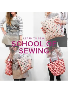 Karin Dejan CLASS IN SESSION Learn to Sew: School of Sewing, Sundays, July 16,23,30, 2:30-6 pm