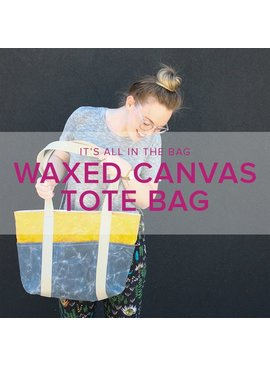 Erica Horton Waxed Canvas Tote Bag, Thursdays, August 17 and 24, 6-8 pm
