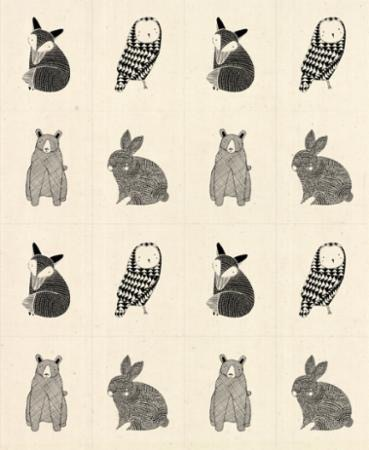 """Moda Thicket Little Critter Panel Natural 17"""" Repeat"""