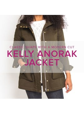 Erica Horton CLASS FULL Kelly Anorak, Thursdays, October 19, 26, November 2, 9, 16, 6-9 pm