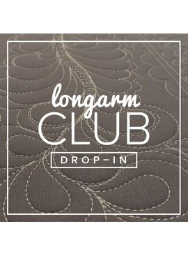 Modern Domestic Longarm Club Single Session Drop-in, MONDAY, August 28, 10:30-12:30 pm