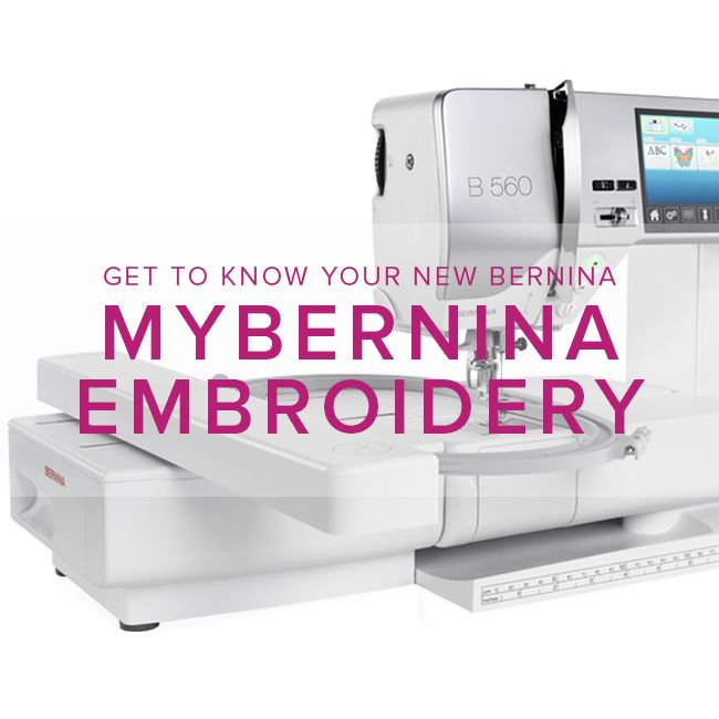 Modern Domestic MyBERNINA: Machine Embroidery, Sunday, August 27, 10:30 - 1 pm