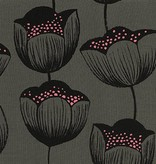 Cotton + Steel Magic Forest by Sarah Watts: Magic Tulips Grey Rayon