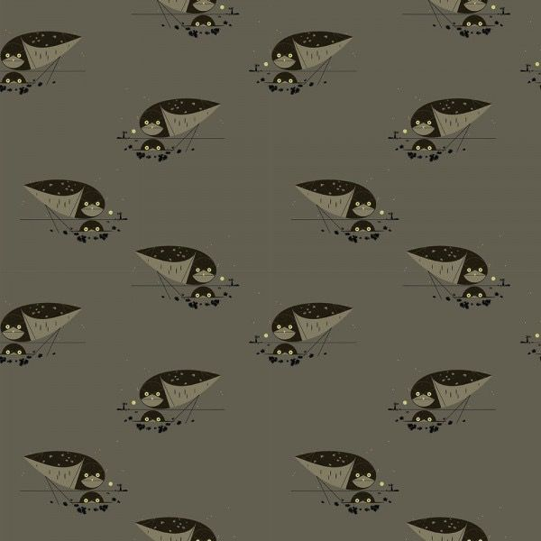 Birch Fabrics Charlie Harper's Western Birds Burrowing Owl Canvas