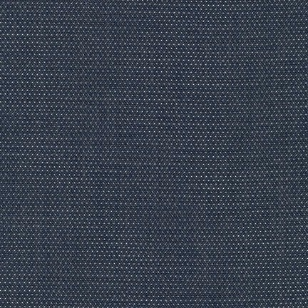 Robert Kaufman Cotton Chambray Pin Dots Indigo