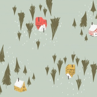 Dear Stella Winter Cabin Flannel: Winter Cabin — Cameo