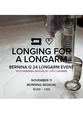 Modern Domestic Longing for a Longarm, Saturday, November 11, 10 am - 1 pm
