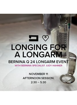 Modern Domestic Longing for a Longarm, Saturday, November 11, 2:30 - 5:30 pm