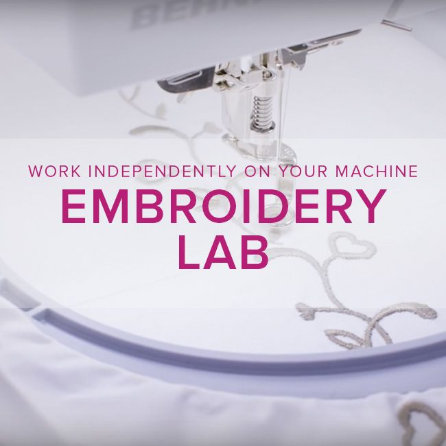 Modern Domestic MyBERNINA: Machine Embroidery Lab: Lace! Sunday, October 15,  10:30 am - 1 pm