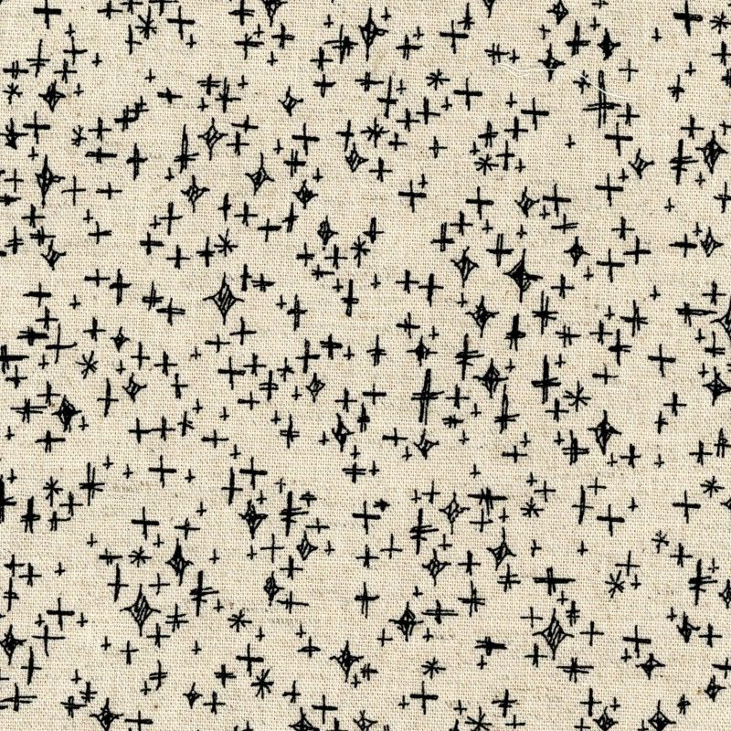 EE Schenck Tiny Scandinavia: Stars - Black on Natural