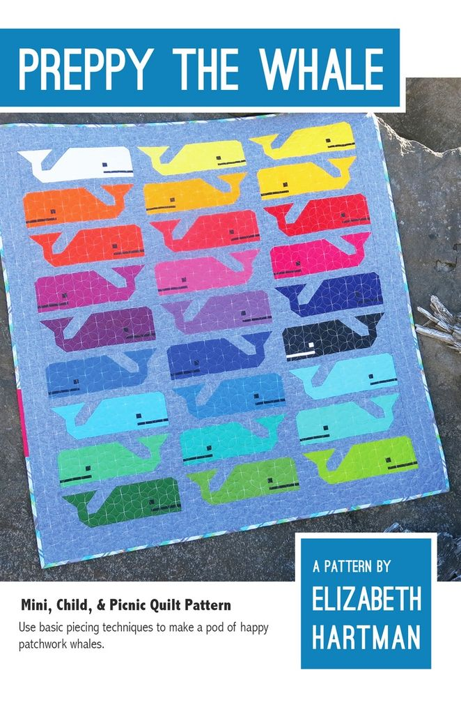Elizabeth Hartman Elizabeth Hartman's Preppy the Whale Quilt Pattern