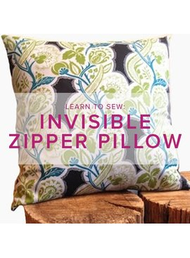 Erica Horton Learn to Sew: Invisible Zipper Pillow, Friday, October 20th, 1-4 pm