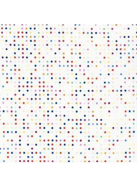 Hoffman Fabrics Double Dutch Candy Dots by Latifah Saafir Studios - White