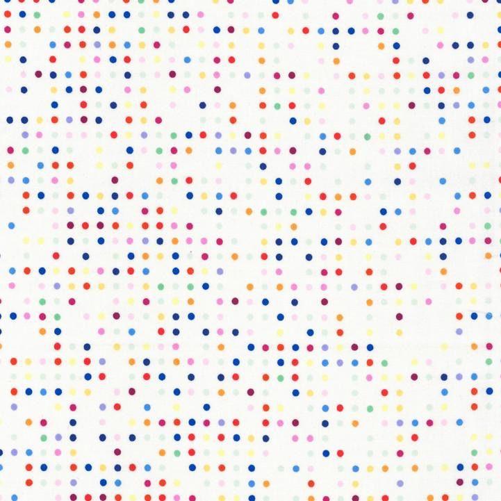 Hoffman Fabrics Double Dutch Candy Dots by Latifah Saafir Studios - White