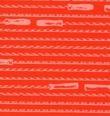 Hoffman Fabrics Double Dutch Jump Rope by Latifah Saafir Studios - Flame