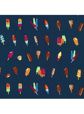Hoffman Fabrics Double Dutch Ice Cream Truch by Latifah Saafir Studios - Navy